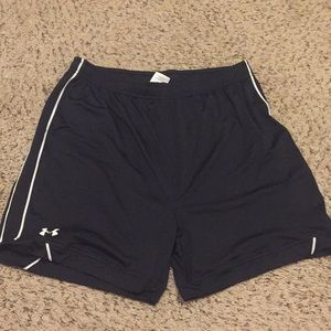 Black under armour shorts. Youth XL